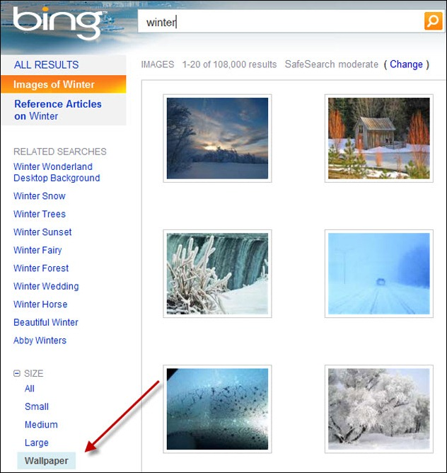 Bing Wallpaper Search