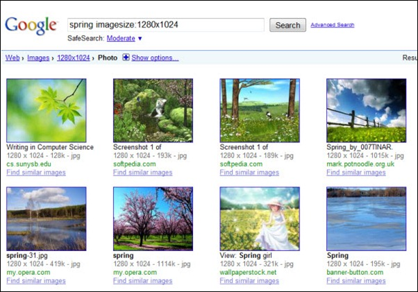 Results from Google Image Wallpaper Search