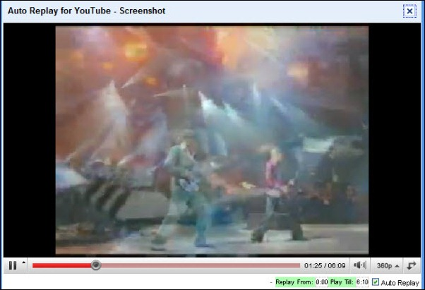 Auto Replay for YouTube Screenshot