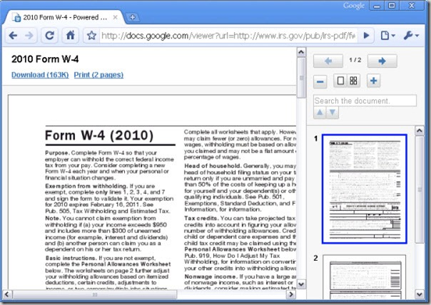 PDF open in Google Docs