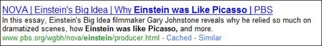 Einstein Was Google Search Result