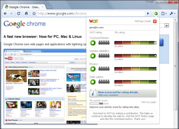 Web of Trust in Chrome