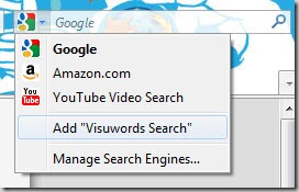 Adding VisuWords to Firefox search
