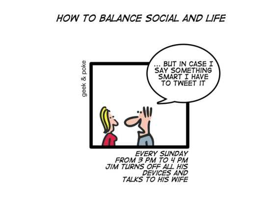 how to balance social and life